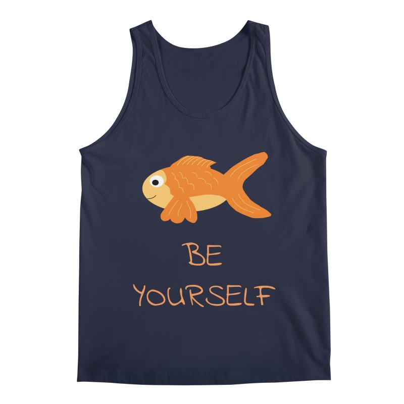 The Be Yourself Fish Men's Regular Tank by Birchmark