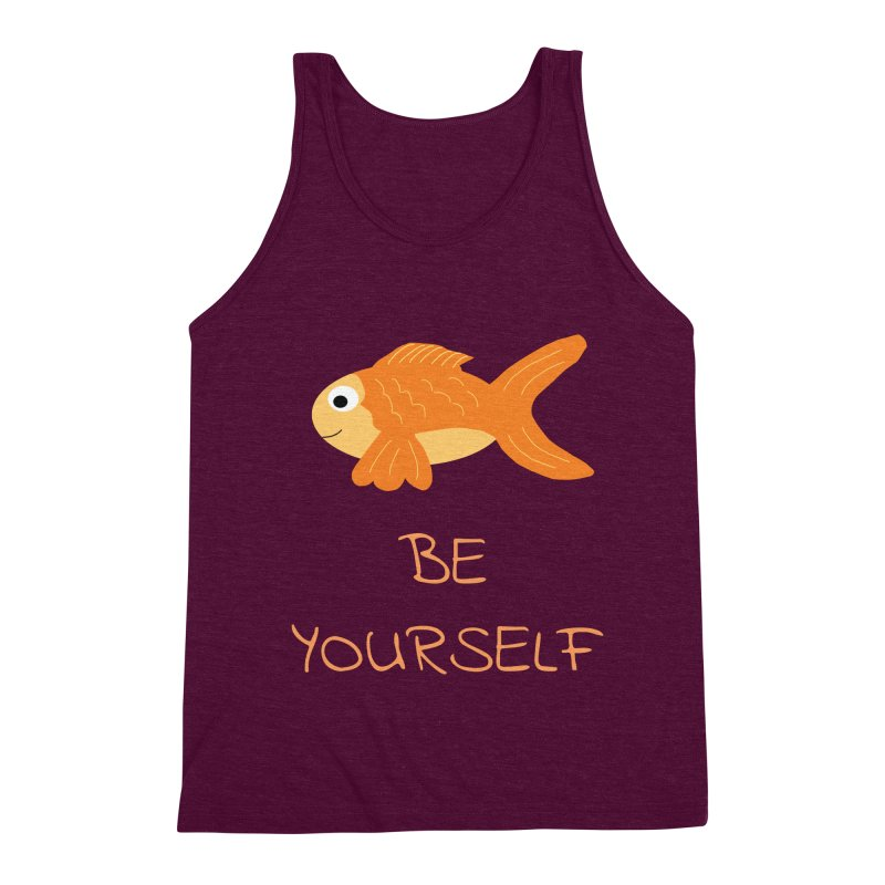 The Be Yourself Fish Men's Triblend Tank by Birchmark