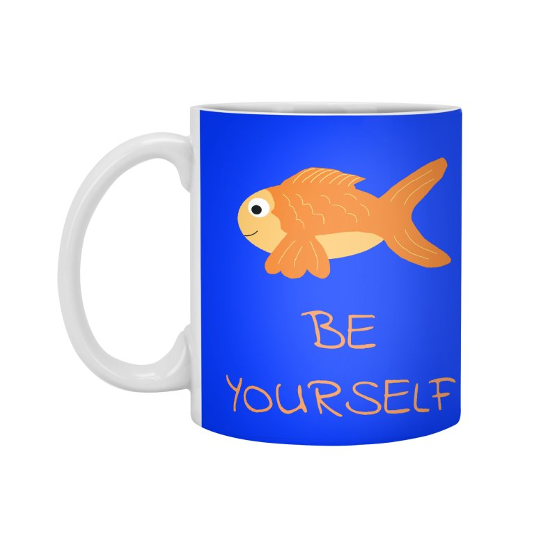 The Be Yourself Fish Accessories Standard Mug by Birchmark
