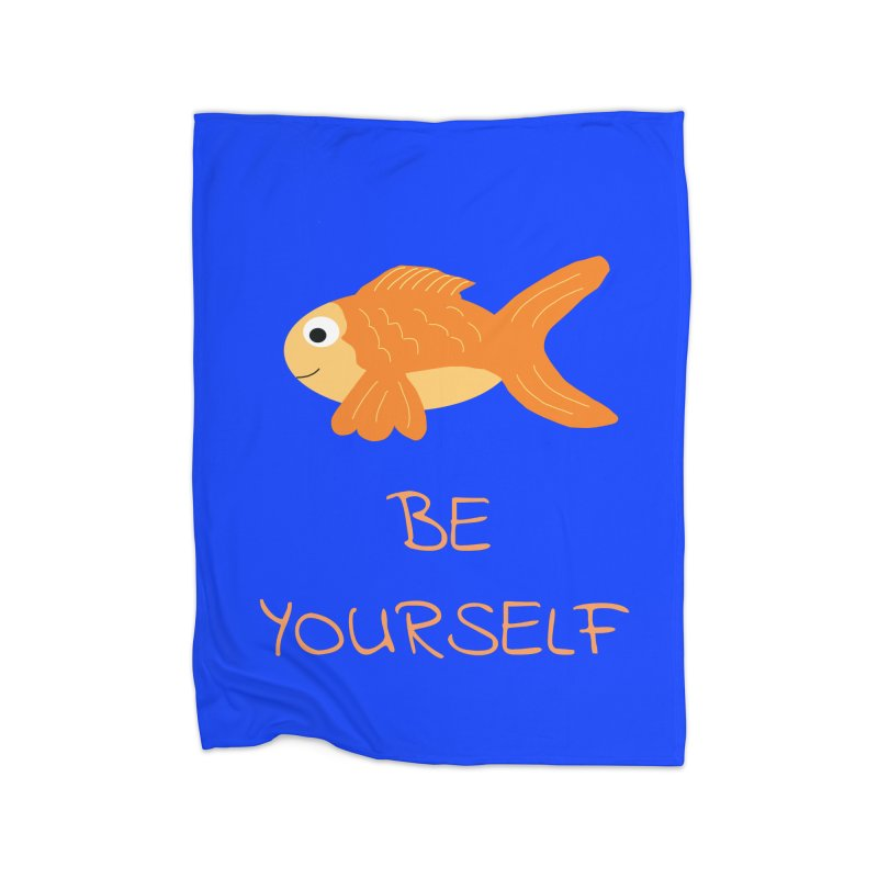 The Be Yourself Fish Home Fleece Blanket Blanket by Birchmark