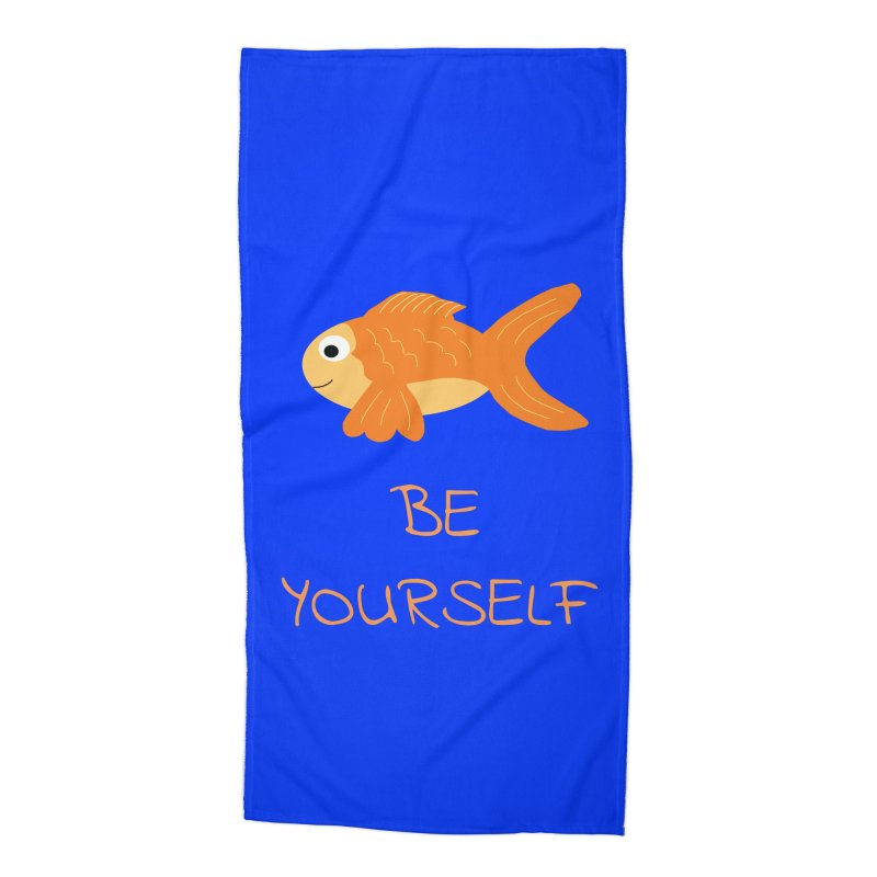 The Be Yourself Fish Accessories Beach Towel by Birchmark