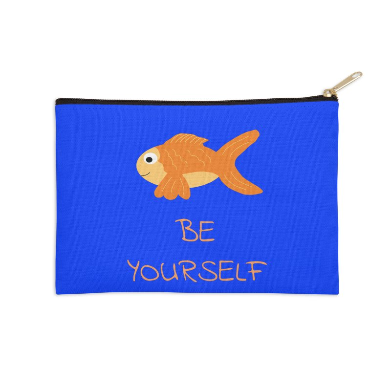 The Be Yourself Fish Accessories Zip Pouch by Birchmark