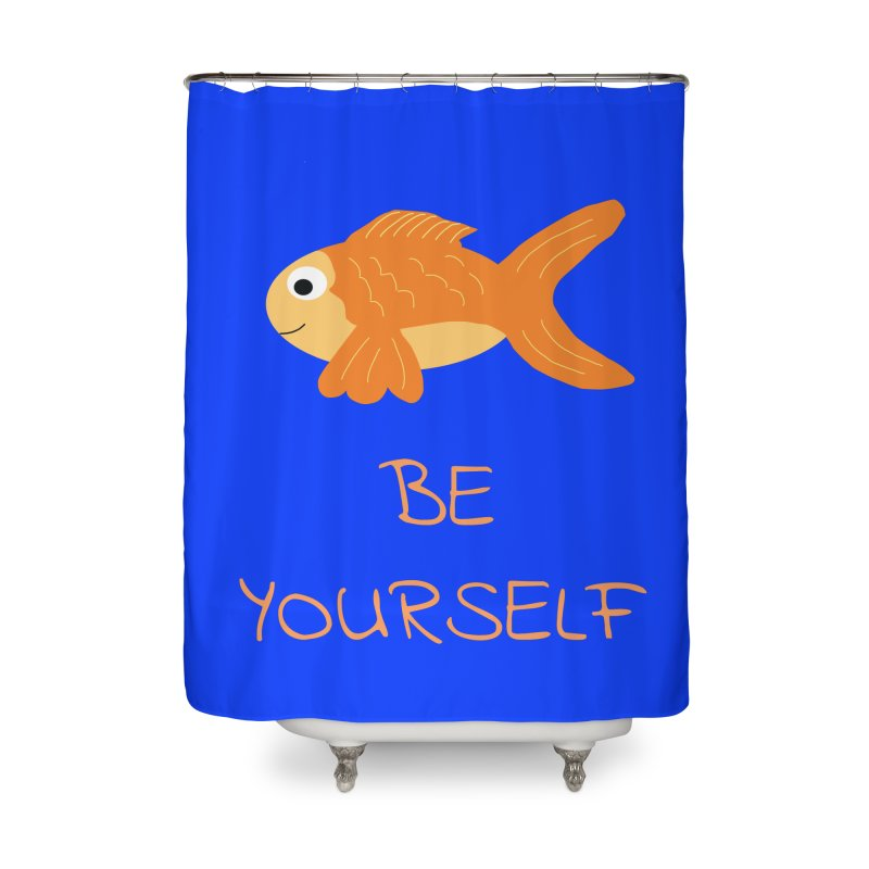 The Be Yourself Fish Home Shower Curtain by Birchmark