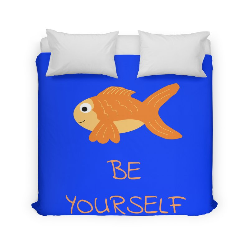 The Be Yourself Fish Home Duvet by Birchmark