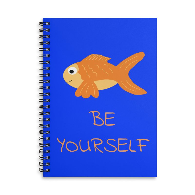 The Be Yourself Fish Accessories Lined Spiral Notebook by Birchmark