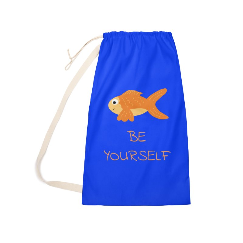 The Be Yourself Fish Accessories Laundry Bag Bag by Birchmark