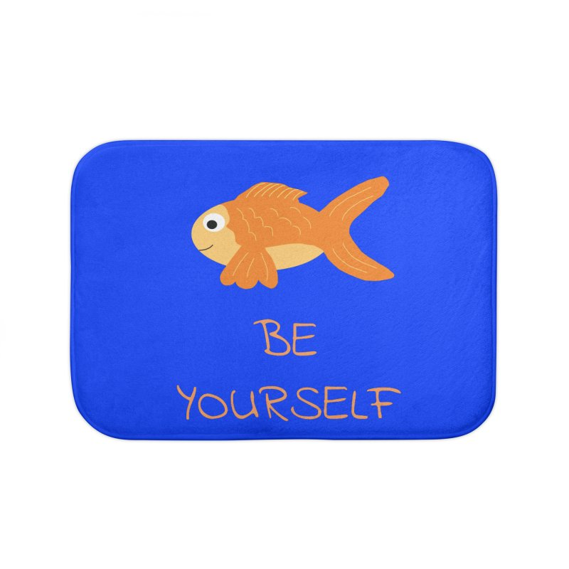 The Be Yourself Fish Home Bath Mat by Birchmark