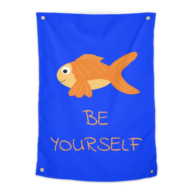 The Be Yourself Fish Home Tapestry by Birchmark