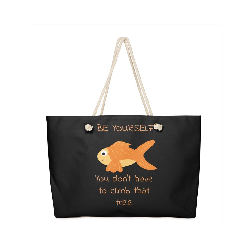 Be Yourself Fish Doesn't Climb Trees Accessories Bag by Birchmark
