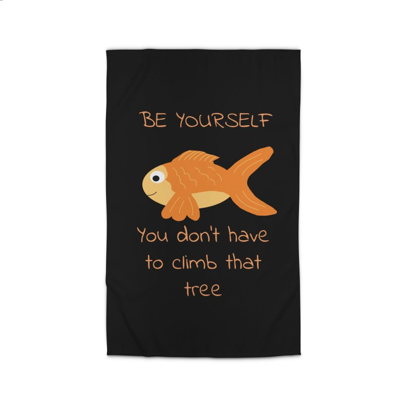Be Yourself Fish Doesn't Climb Trees Home Rug by Birchmark