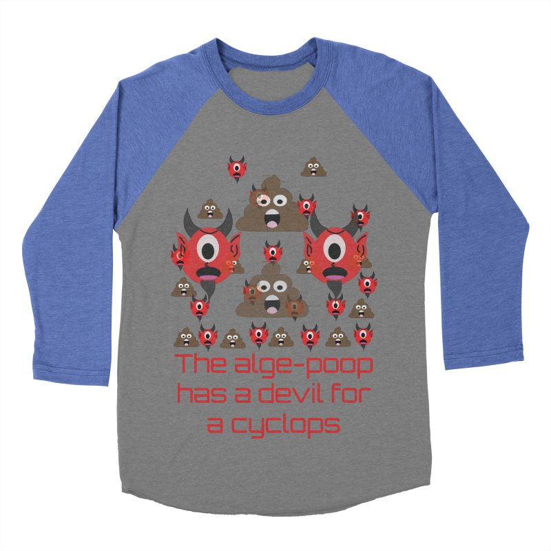 Algepoopian rhapsody (Misheard Song Lyric) Men's Baseball Triblend Longsleeve T-Shirt by Birchmark