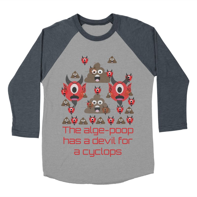 Algepoopian rhapsody (Misheard Song Lyric) Men's Baseball Triblend T-Shirt by Birchmark