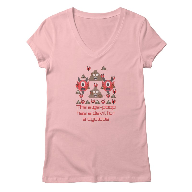 Algepoopian rhapsody (Misheard Song Lyric) Women's V-Neck by Birchmark