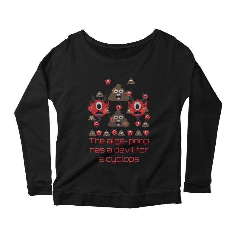 Algepoopian rhapsody (Misheard Song Lyric) Women's Scoop Neck Longsleeve T-Shirt by Birchmark
