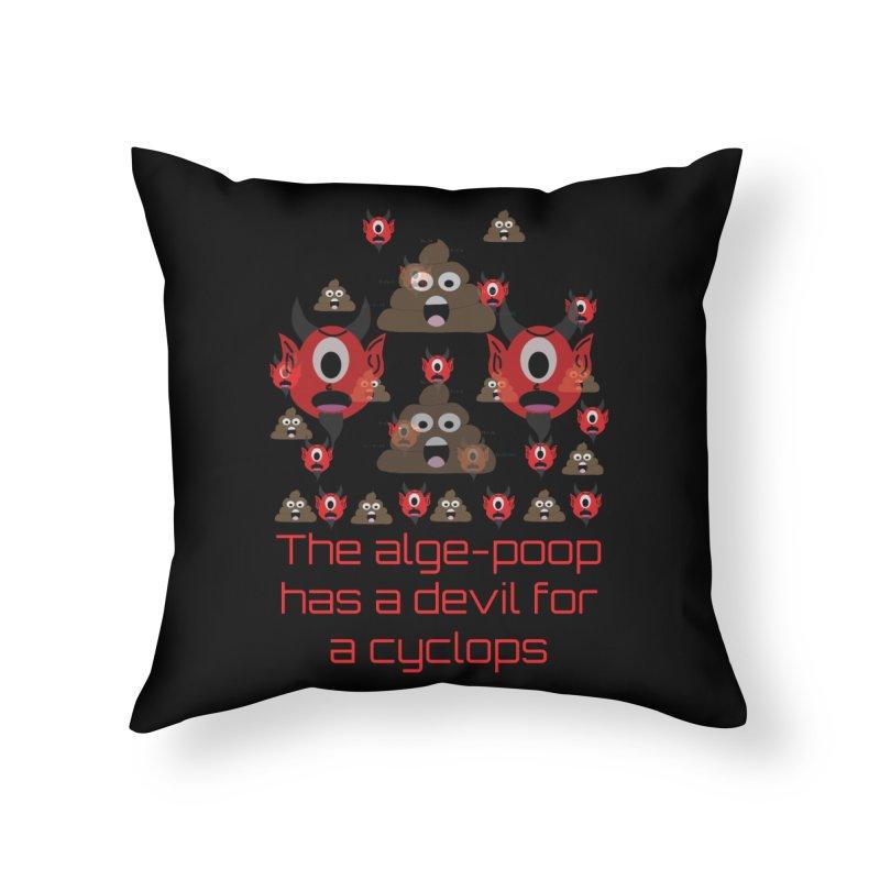 Algepoopian rhapsody (Misheard Song Lyric) Home Throw Pillow by Birchmark