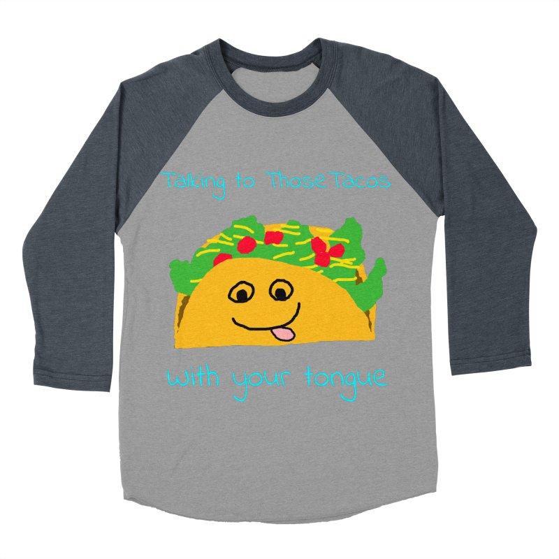 Taco Tongue - Misheard Song Lyric #2 Men's Baseball Triblend T-Shirt by Birchmark
