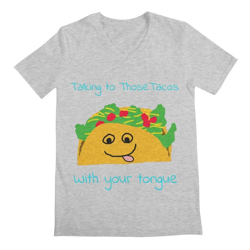 Taco Tongue - Misheard Song Lyric #2 Men's V-Neck by Birchmark