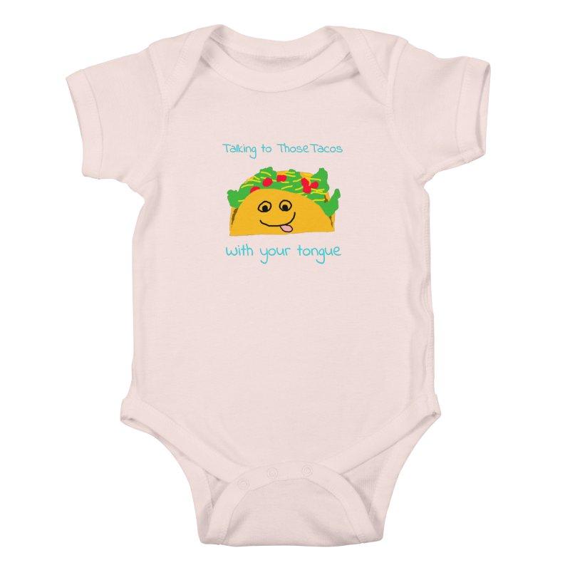 Taco Tongue - Misheard Song Lyric #2 Kids Baby Bodysuit by Birchmark