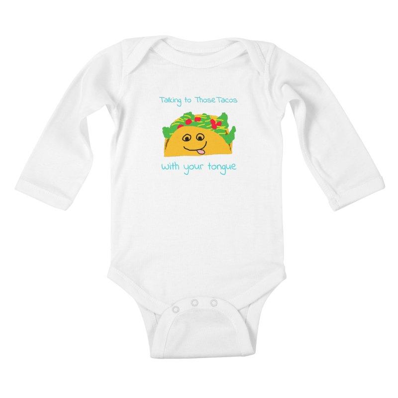 Taco Tongue - Misheard Song Lyric #2 Kids Baby Longsleeve Bodysuit by Birchmark
