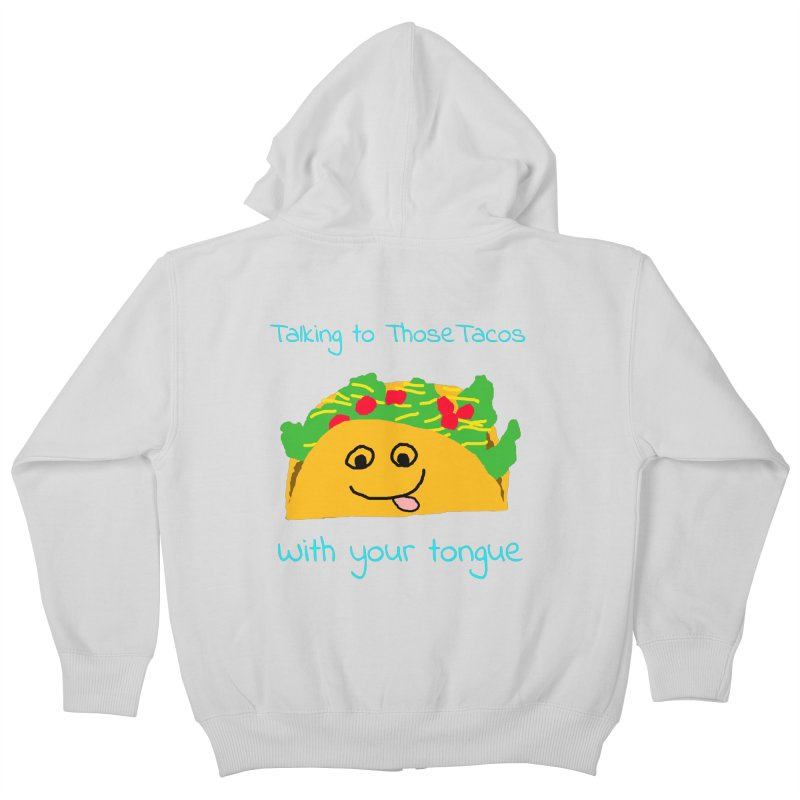 Taco Tongue - Misheard Song Lyric #2 Kids Zip-Up Hoody by Birchmark