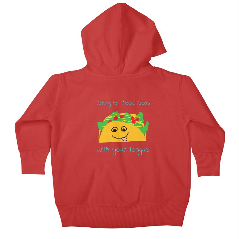 Taco Tongue - Misheard Song Lyric #2 Kids Baby Zip-Up Hoody by Birchmark