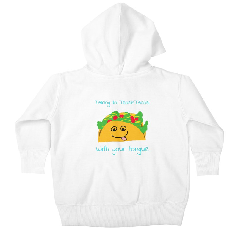 Taco Tongue - Misheard Song Lyric #2 Kids Baby Zip-Up Hoody by Birchmark