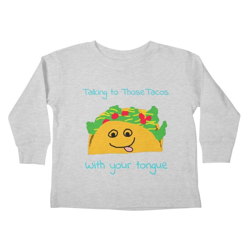 Taco Tongue - Misheard Song Lyric #2 Kids Toddler Longsleeve T-Shirt by Birchmark