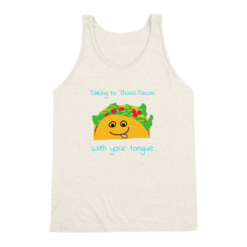 Taco Tongue - Misheard Song Lyric #2 Men's Triblend Tank by Birchmark