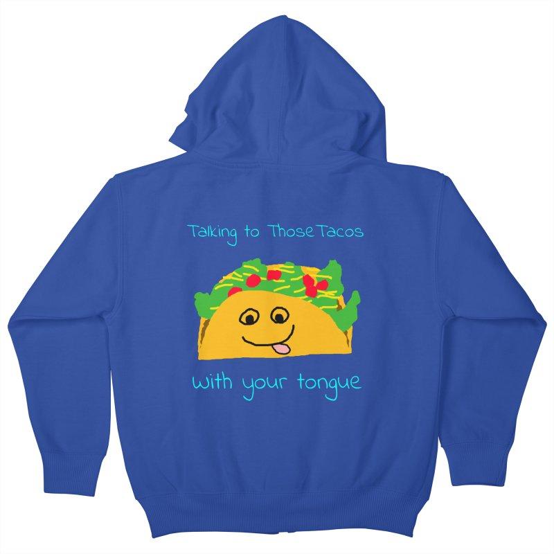 Taco Tongue - Misheard Song Lyric #2 Kids Zip-Up Hoody by Birchmark