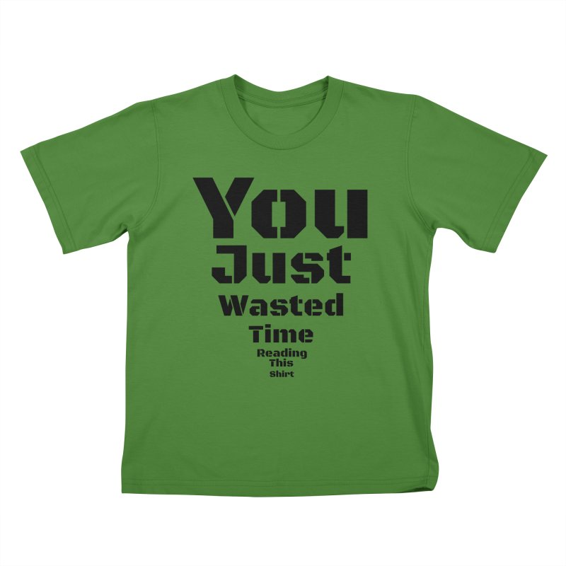 Wasted Time Kids T-Shirt by Birchmark