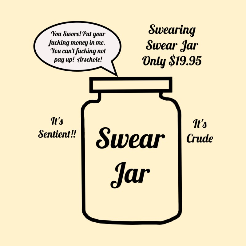 Swearing Swear Jar Ad Home Framed Fine Art Print by Birchmark