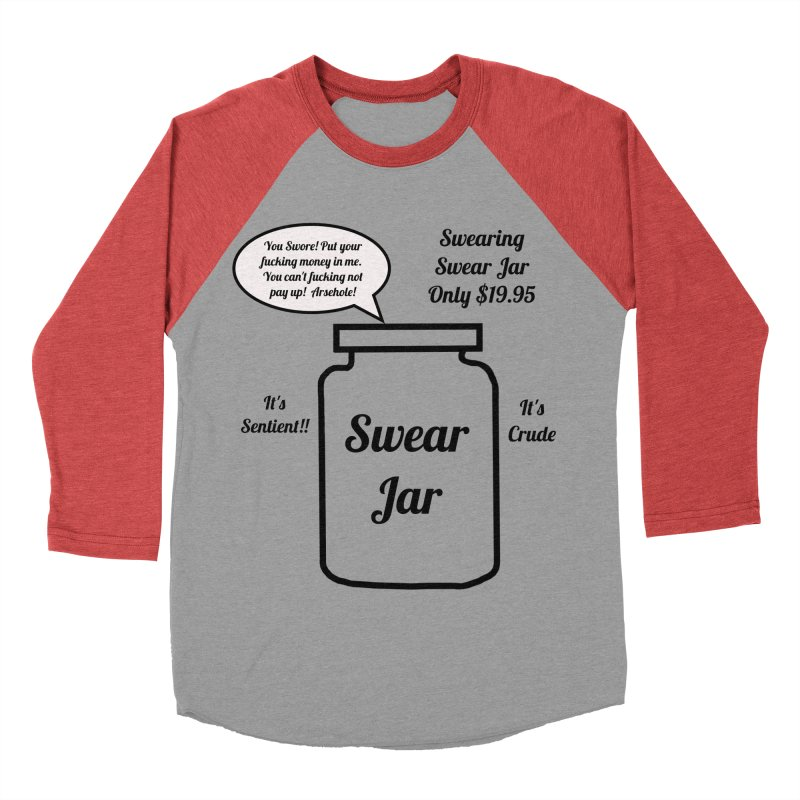 Swearing Swear Jar Ad Men's Baseball Triblend T-Shirt by Birchmark