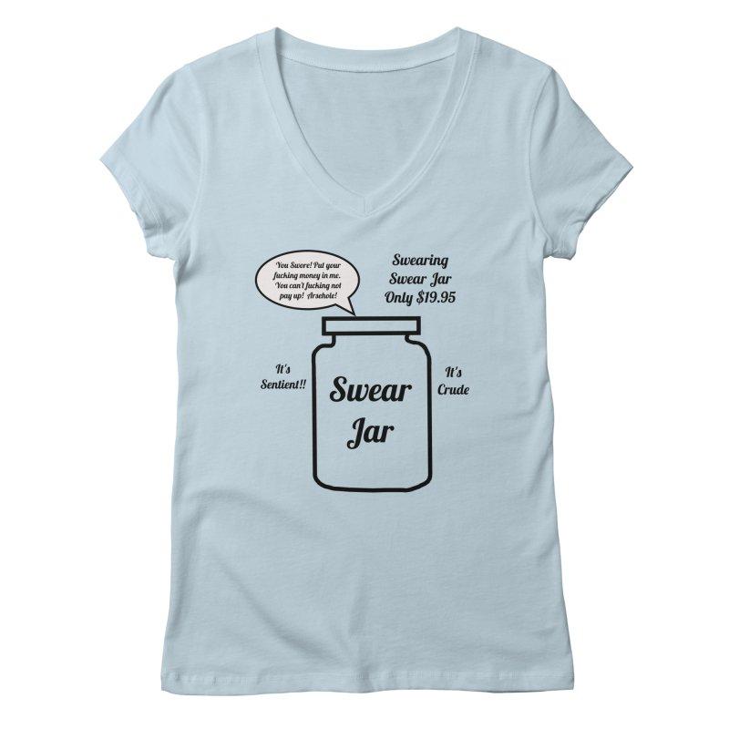 Swearing Swear Jar Ad Women's V-Neck by Birchmark