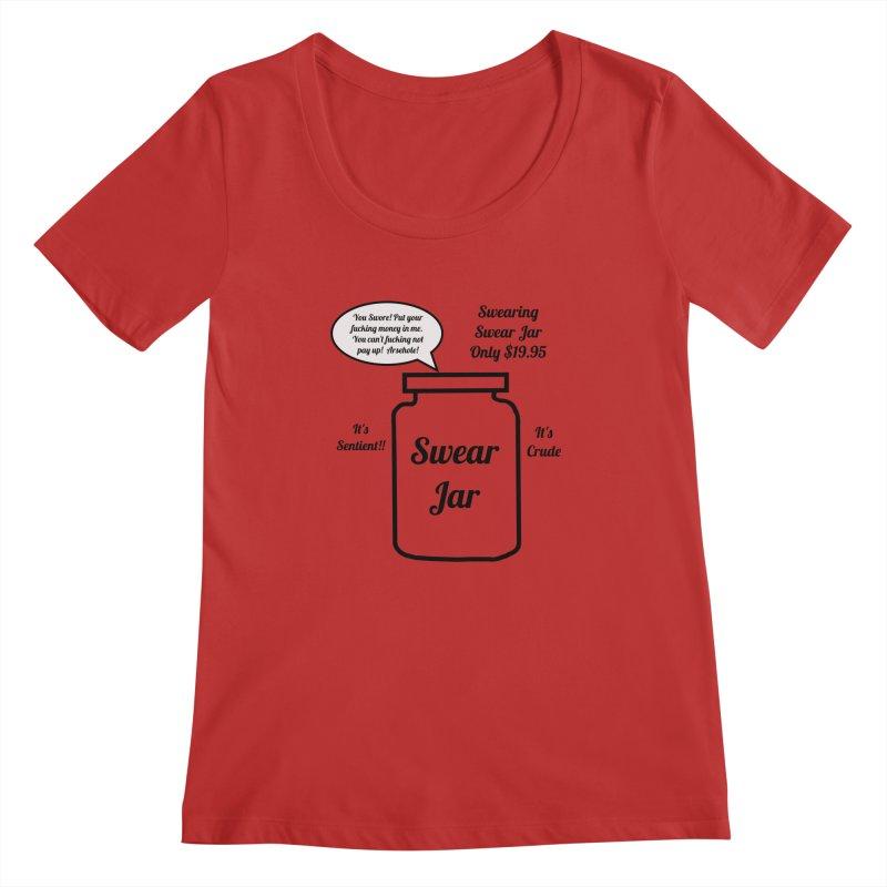 Swearing Swear Jar Ad Women's Scoopneck by Birchmark