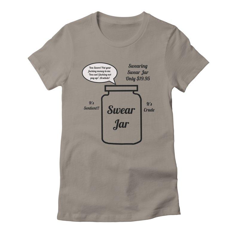 Swearing Swear Jar Ad Women's Fitted T-Shirt by Birchmark
