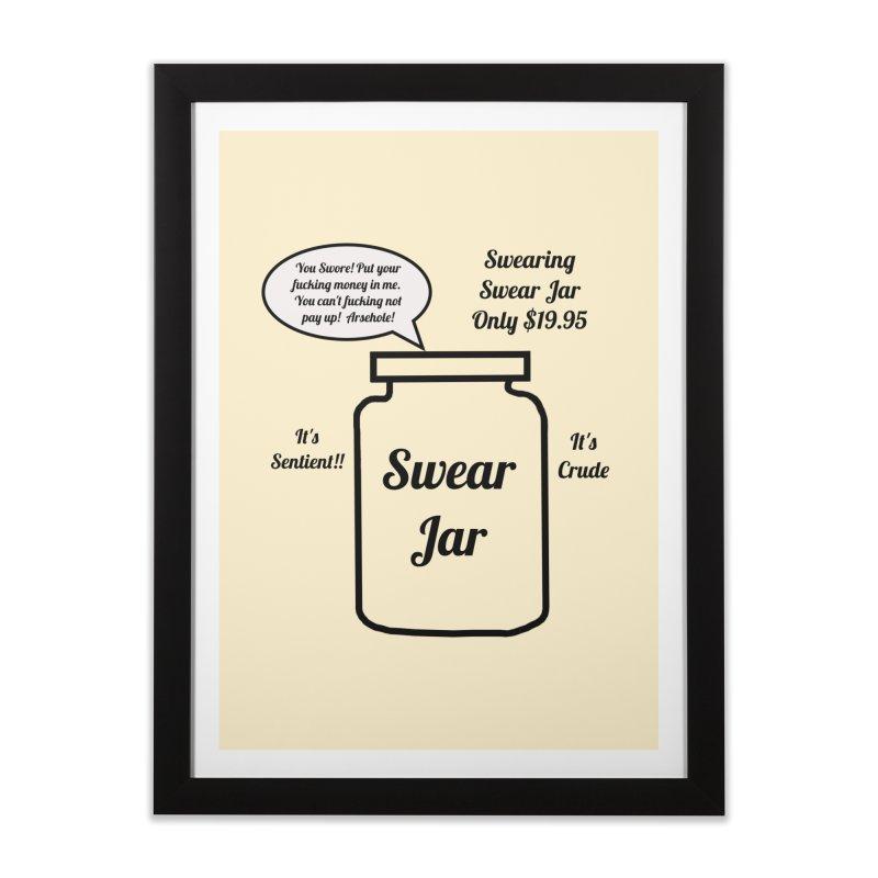 Swearing Swear Jar Ad Home Framed Fine Art Print by Birchmark