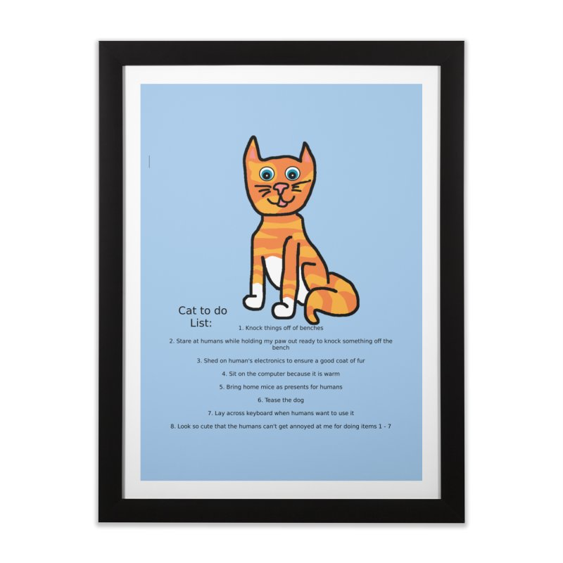To Do Cat Home Framed Fine Art Print by Birchmark