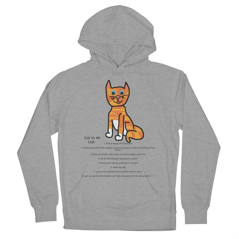 To Do Cat Women's French Terry Pullover Hoody by Birchmark