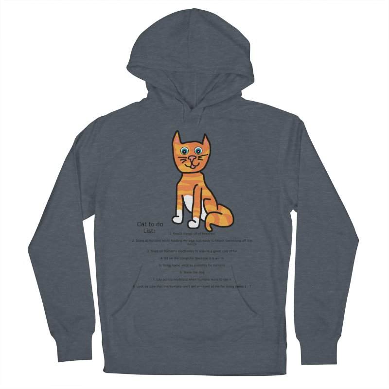 To Do Cat Men's French Terry Pullover Hoody by Birchmark
