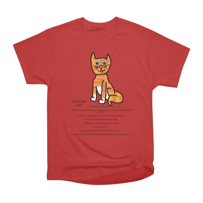 To Do Cat Men's Heavyweight T-Shirt by Birchmark