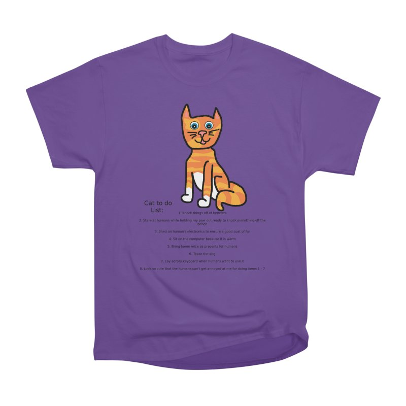 To Do Cat Men's Heavyweight T-Shirt by Birchmark