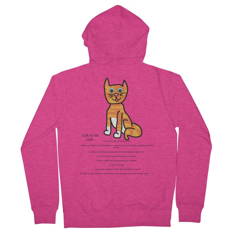 To Do Cat Women's French Terry Zip-Up Hoody by Birchmark