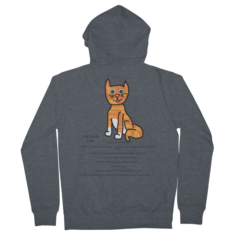 To Do Cat Men's French Terry Zip-Up Hoody by Birchmark