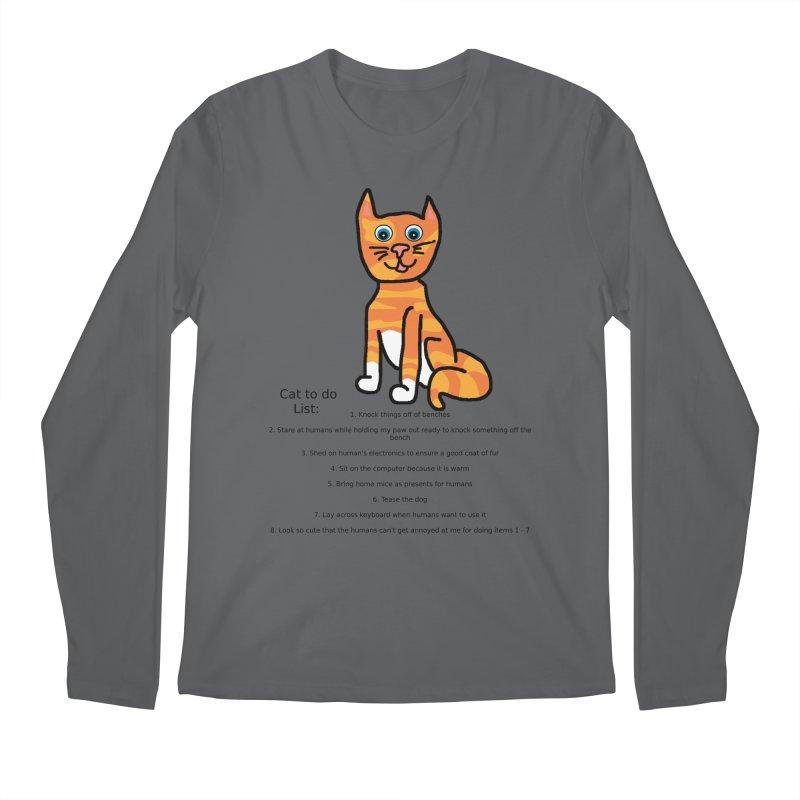 To Do Cat Men's Longsleeve T-Shirt by Birchmark