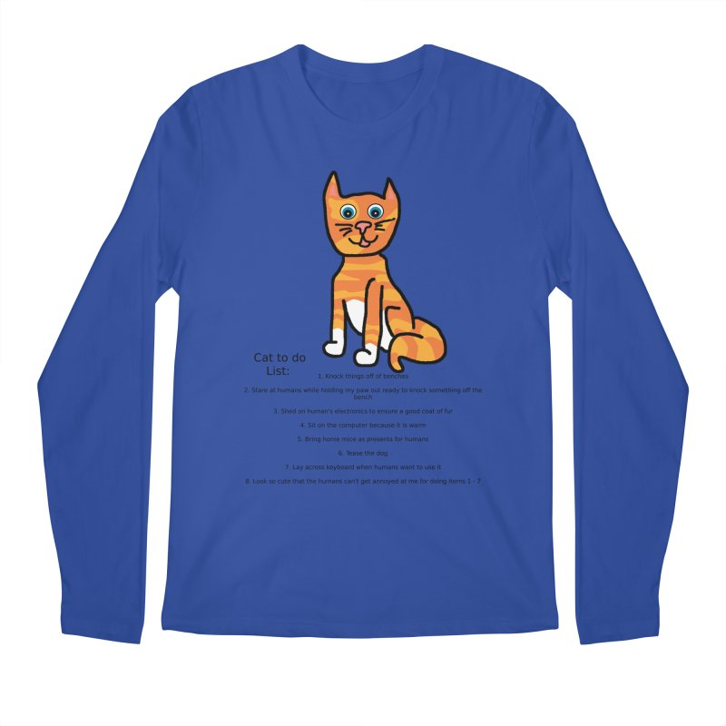 To Do Cat Men's Regular Longsleeve T-Shirt by Birchmark