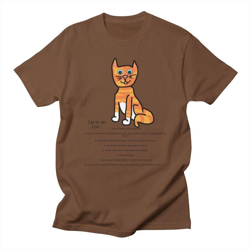 To Do Cat Men's T-Shirt by Birchmark