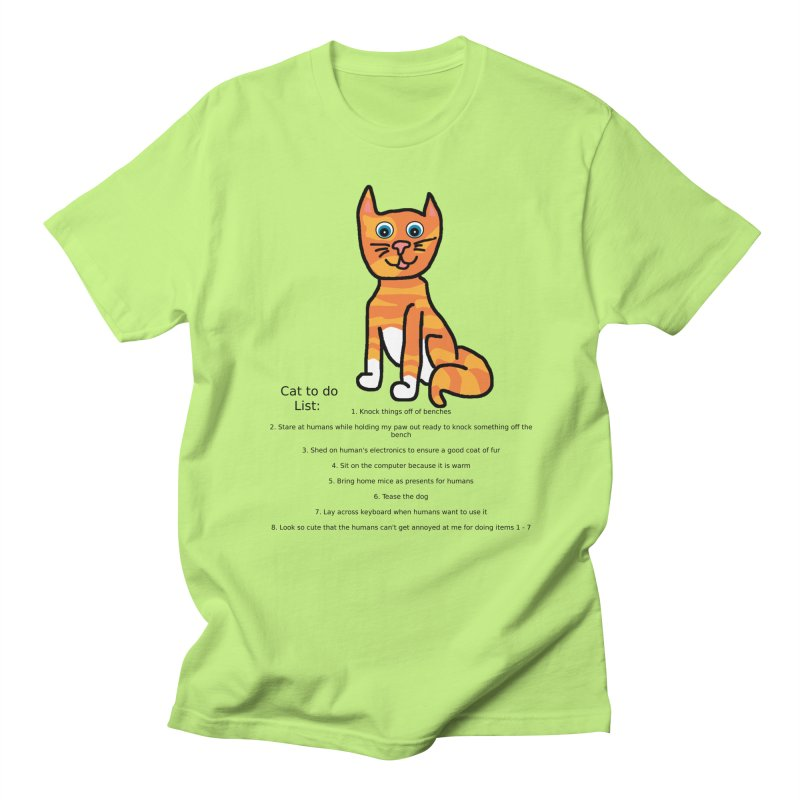 To Do Cat Men's T-shirt by Birchmark