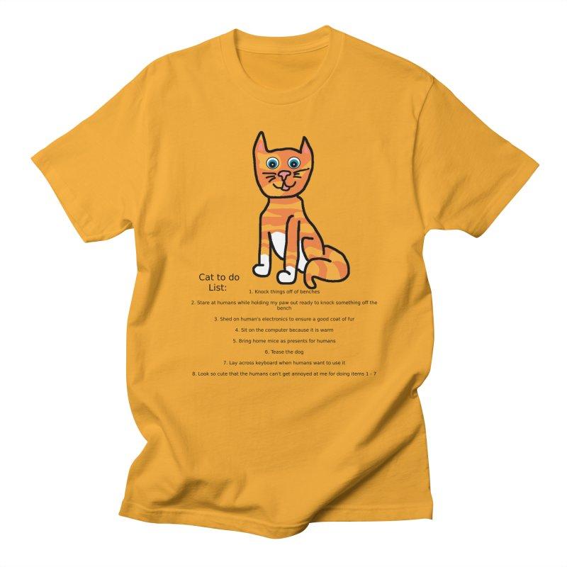 To Do Cat Men's Regular T-Shirt by Birchmark