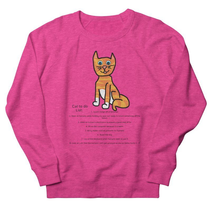 To Do Cat Women's French Terry Sweatshirt by Birchmark