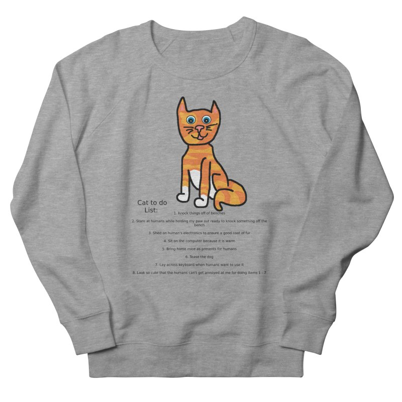 To Do Cat Men's French Terry Sweatshirt by Birchmark